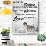 Schnnauzer Dog Canvas Prints Wall Art - When You Believe - Matte Canvas