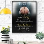 To My Son Basketball Canvas Prints Wall Art - Matte Canvas
