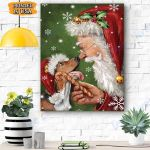 Basset Hound Dog - Santa Canvas Prints Wall Art - Matte Canvas