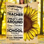 Sunflower Custom Blankets - Perfect Gift For Teacher 3 - Fleece Blanket
