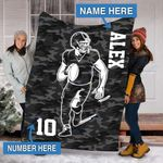 Custom Blankets Football Personalized Blanket  - Sherpa Blanket