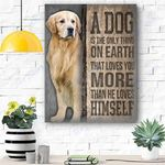 Golden Dog Canvas Prints Wall Art - Matte Canvas