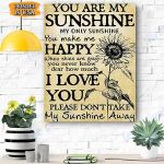 You Are My Sunshine Canvas Prints Wall Art - Matte Canvas