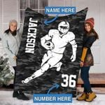 Custom Blankets Football Personalized Blanket - Sherpa Blanket