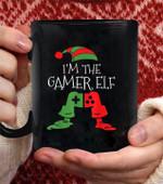I'm The Gamer Elf Funny christmas Gamer coffee mug - Black Mug