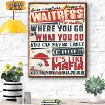 Waitress Canvas Prints Wall Art - Matte Canvas