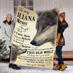 Custom Blankets Wolf Personalized Blanket - Fleece Blanket