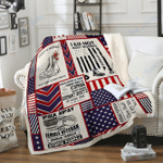 Custom Blankets Veteran Blanket  - Fleece Blanket