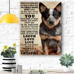 Dog Canvas Prints Wall Art - Laugh Love Live - Matte Canvas