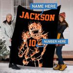 Custom Blankets Football Personalized Blanket - Fleece Blanket