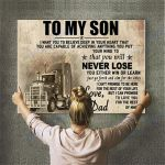 Truck Dad Canvas Prints Wall Art - Perfect Gift For Son - Matte Canvas