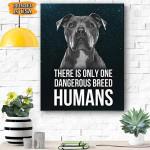 Pitbull Dog Canvas Prints Wall Art - Matte Canvas