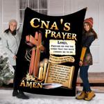 Custom Blankets CNA's Prayer Blanket - Fleece Blanket