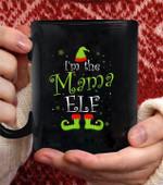 I'm The Mama Elf Matching Family Group christmas Funny coffee mug - Black Mug
