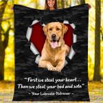 Custom Blankets Labrador Retriever Dog Blanket - Fleece Blanket