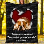Custom Blankets Bulldog Dog Blanket - Fleece Blanket