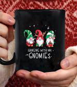Hanging With My Gnomie Nordic santa Gnome christmas Pajama coffee mug - Black Mug