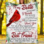 Custom Blankets To My Bestie - Perfect Gift For Bestie - Fleece Blanket