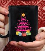 Flamingo Tree Funny Ugly christmas coffee mug - Black Mug