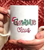 GAMMIE Claus Christmas Santa Claus Hat -Grandma gift Coffee Mug - White Mug