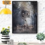 Wolf Walking Behind Canvas Prints Wall Art - Matte Canvas
