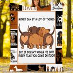 Custom Blankets Dachshund Dog Blanket - Fleece Blanket