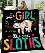 Custom Blankets Sloth Blanket - Gift For Girl - Fleece Blanket