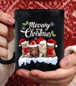 Meowy christmas Tee Kitten Cat KittyCute coffee mug - Black Mug
