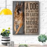 German Shepherd Dog Canvas Prints Wall Art - Matte Canvas