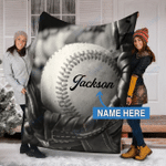 Custom Blankets BASEBALL Personalized Blanket 7 - Fleece Blanket