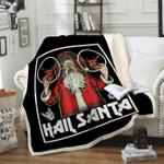 Custom Blankets Hail Santa Sleigher Heavy Metal Blanket - Fleece Blanket