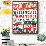 Tow Truck Operator Canvas Prints Wall Art - Matte Canvas