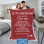 Custom Blankets Personalized Blanket - Perfect gift for Girlfriend - Sherpa Blanket