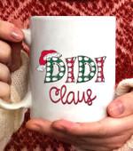DIDI Claus Christmas Santa Claus Hat -Grandma gift Coffee Mug - White Mug