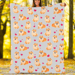 Custom Blankets Pomeranian Dog Blanket - Fleece Blanket