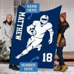 Custom Blankets Patriots Football Personalized Blanket - Fleece Blanket