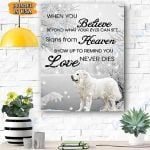 Great Pyrenees Dog Snow Canvas Prints Wall Art - Matte Canvas