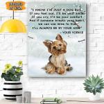 Yorkie Dog Canvas Prints Wall Art - Matte Canvas