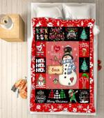 Custom Blankets - Sasa Snowman Christmas Blanket - Fleece Blankets