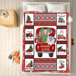 Custom Blankets - Grammy Claus Christmas Blanket - Fleece Blankets