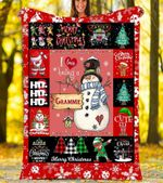 Custom Blankets I Love Being A Grammie Christmas Blanket - Fleece Blanket