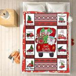 Custom Blankets - Dad Claus Christmas Blanket - Fleece Blankets