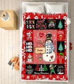 Custom Blankets - Shiny Snowman Christmas Blanket - Fleece Blankets