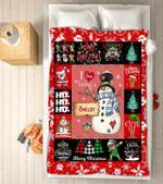 Custom Blankets - Shelby Snowman Christmas Blanket - Fleece Blankets