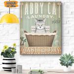 Tabby Cat Laundry Canvas Prints Wall Art - Matte Canvas
