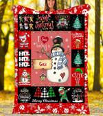 Custom Blankets I Love Being A Gigi Christmas Blanket - Fleece Blanket