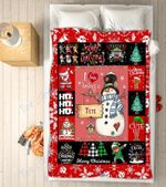 Custom Blankets - Tete Snowman Christmas Blanket - Fleece Blankets