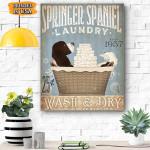 Springer Spaniel Dog Canvas Prints Wall Art - Matte Canvas