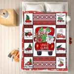 Custom Blankets - Uncle Claus Christmas Blanket - Fleece Blankets