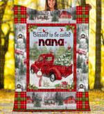Custom Blankets - Nana Christmas Blanket Xmas - Fleece Blanket